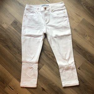 Express White Jean capris